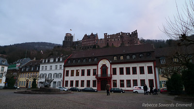Heidelberg Castle up on the hill