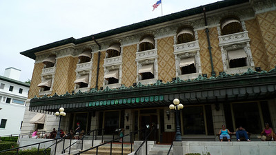 Bathhouse row - some still operating, some historical