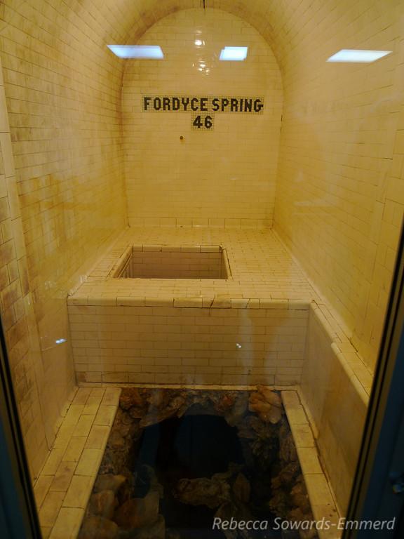 The actual spring underground