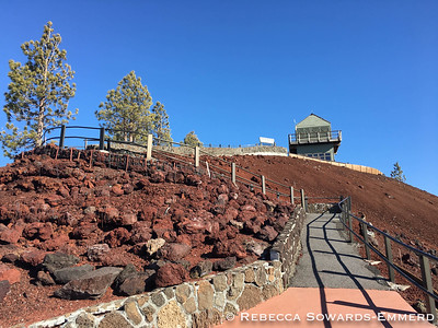 Fire lookout on the summit.