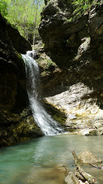 Waterfall at the end of Lost Valley