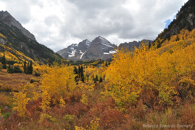 Maroon Bells. It was pretty crowded due to the peak colors but luckily there were ways to photograph without a lot of people in the way.