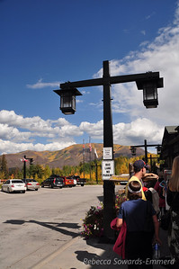 We wanted to see the Maroon Bells classic fall scenery so we took the shuttle up (road is closed to regular vehicles).