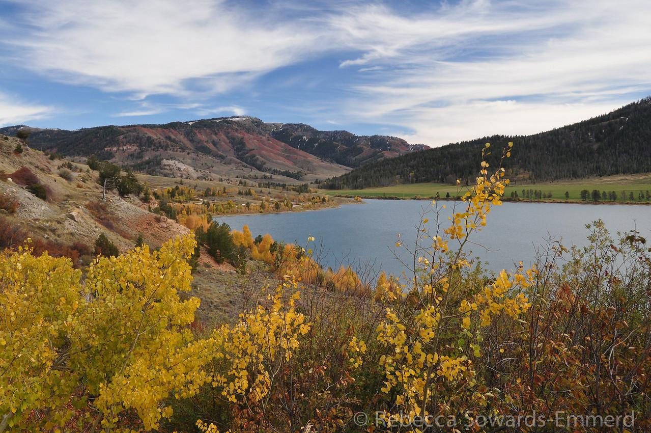 Slide Lake and fall colors