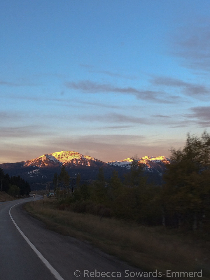 A beautiful sunrise on the way out of town.