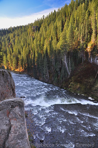 Looking down the river from Upper Mesa Falls