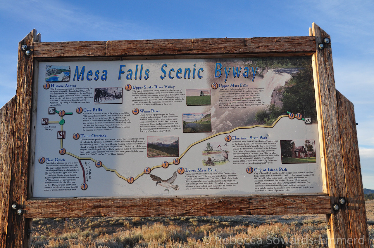 We couldn't drive to Jackson via Yellowstone due to the closure, plus the road was snowed in anyways, so we took the Mesa Falls scenic loop on our way south from West Yellowstone.