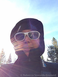 It was really cold! I'm bundled up in some Omniheat with my snazzy Switch shades to keep the cold wind and sun out of my eyes.