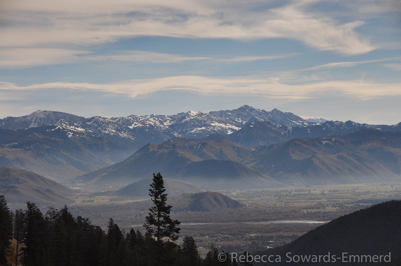 Wind River range from Teton Pass (I think)