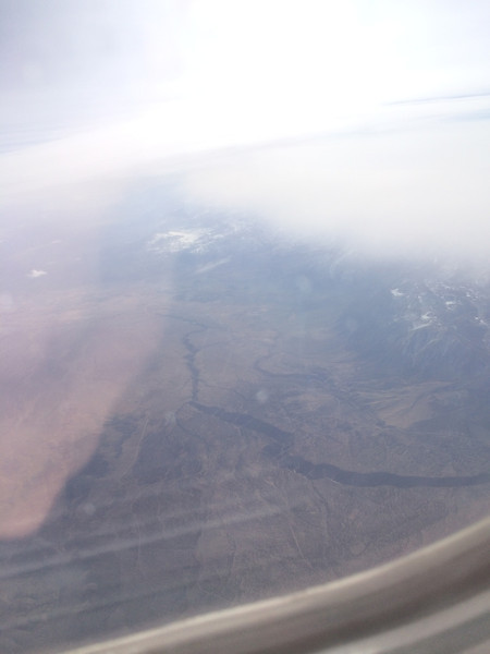 I was in the clouds the whole flight back, except for a small break over the Owens River Gorge.