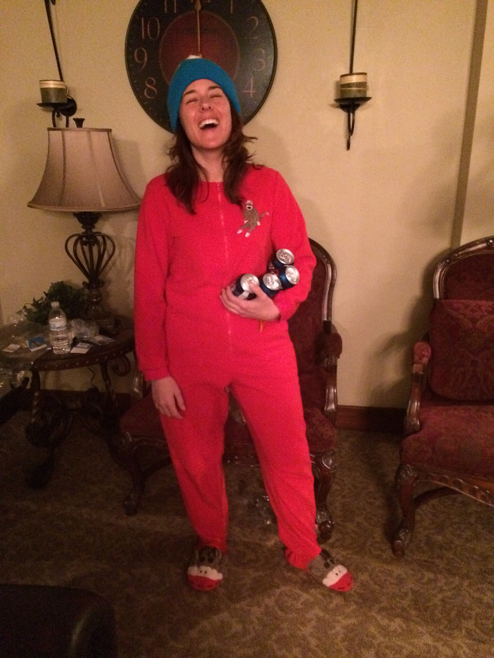 Gina in her adorable onesie.