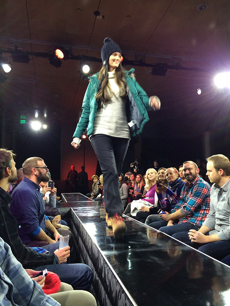 It is a fashion show of the Columbia Fall 2014 line.
