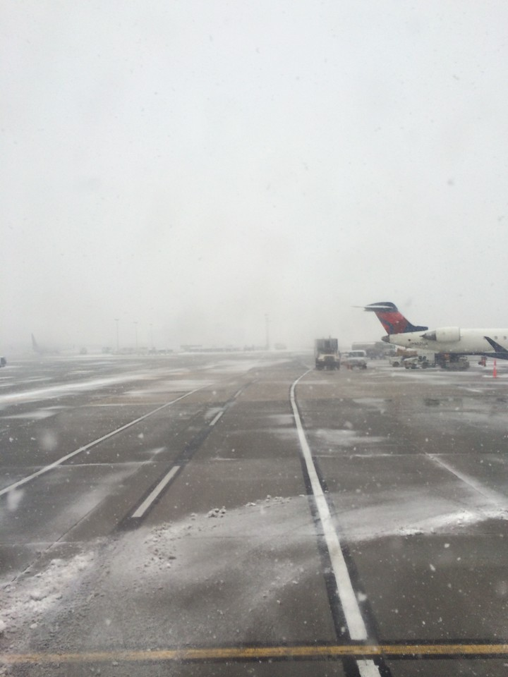 Landing in SLC in a snowstorm - freshies yay!