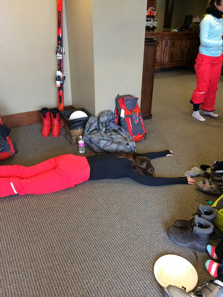 This is how we felt afterwards. But no rest for the OmniTen. Time to ski!