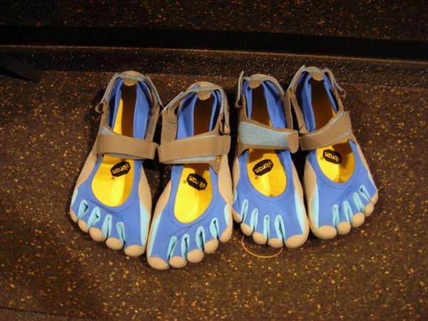 Vibram Five Fingers<br /> <br /> Comfy water shoes
