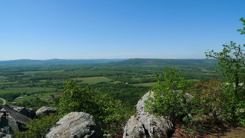 Petit Jean sits on top of a bluff and has some nice views as you drive in.