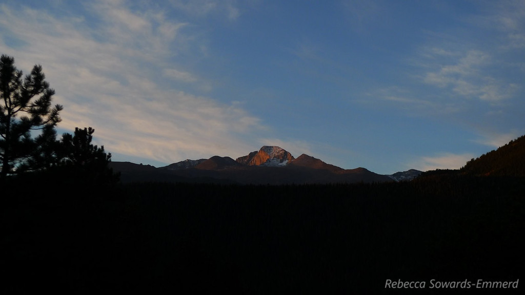 Sunset on Longs Peak.