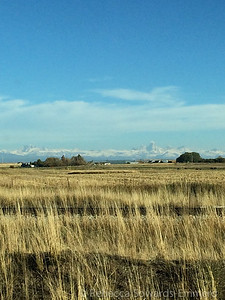 Finally, after a long day on the road we got a peek at the tetons. Yay!