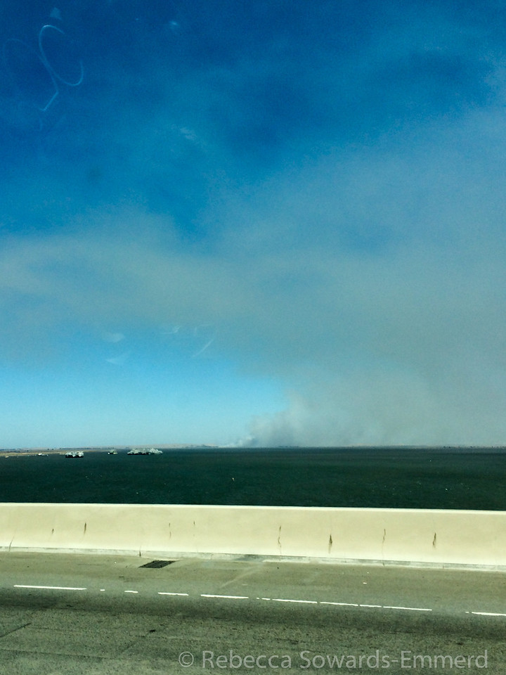We left the bay area on Friday afternoon, hopefully it doesn't burn down by the time we get back...
