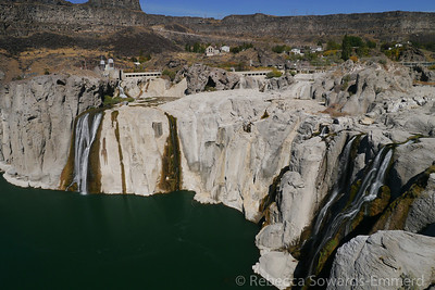 We stopped for lunch and a quick visit to Shoshone Falls in Twin Falls. I've never been here before but I know waterfalls enough to know these are really dry!