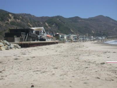 View down the beach.