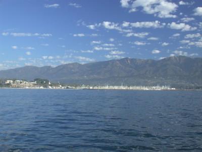 Santa Barbara  Looking back toward shore