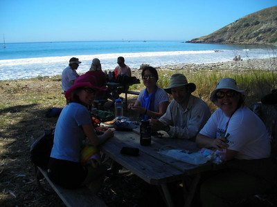 Lunch time at Smuggler's Cove
