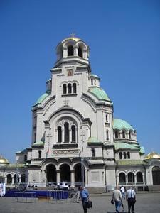 Alexander Nevski Cathedral from the front.