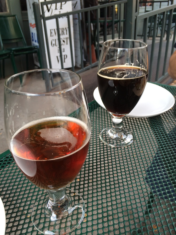 On Saturday afternoon we did the GABF member's session, then went to lucky pie for pizza. They had a great tap list, and here we are drinking Lagunitas beers we can't even get in California.