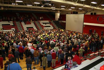 Cherokee Prayer Rally, 1300 participants, Jan 2012