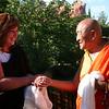 SD-240-017 H.H. Ngawang Tenzin, greeting Jetsunma Ahkön Lhamo, by Ani Dawa