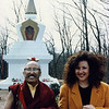 Ngagpa Yeshe Dorje Rinpoche with Jetsunma Ahkön Lhamo at Enlightenment Stupa at Kunzang Palyul Chöling