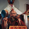 Ngagpa Yeshe Dorje Rinpoche with Chod drum and kangling (thigh bone trumpet)