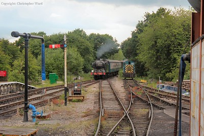1744 brings the train back in from Epping Forest on the way to Ongar