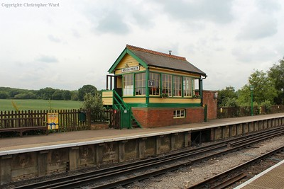 The rather charming signal box at North Weald, as well as a good indication of why the line was never profitable with the rural backdrop
