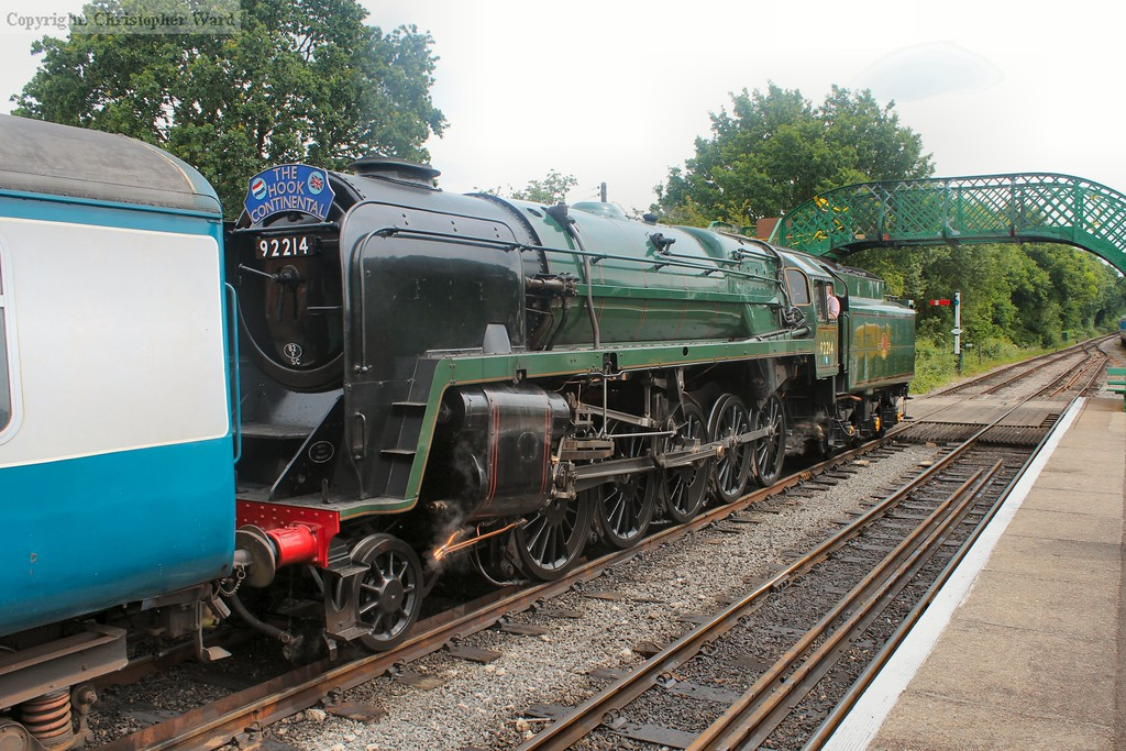 The 9F, having returned from Epping Forest, awaits departure time for Epping