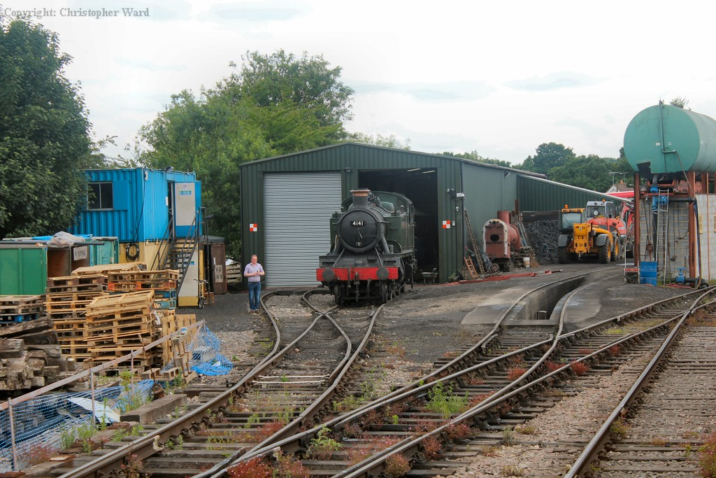 4141 sits outside the shed at North Weald