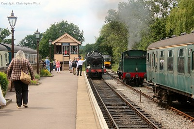 1744 runs in with a train from Epping Forest and exchanges token