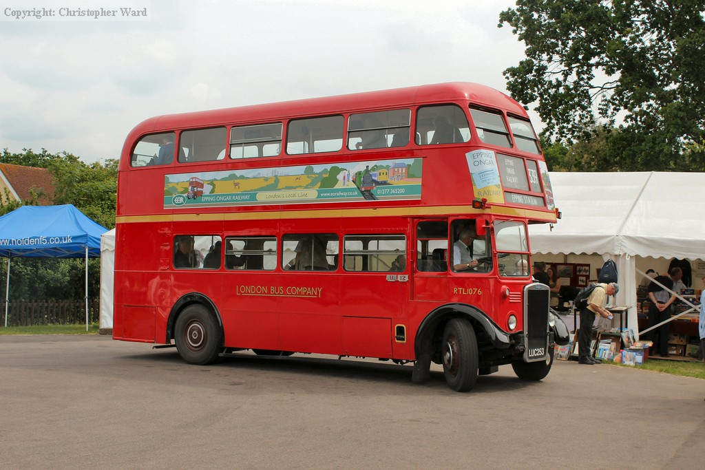 The vintage bus on the route to Shenfield station via. Ongar