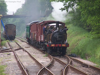 Martello brings the completed train into Isfield