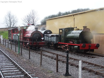 The S&D society tank engines at Dunster