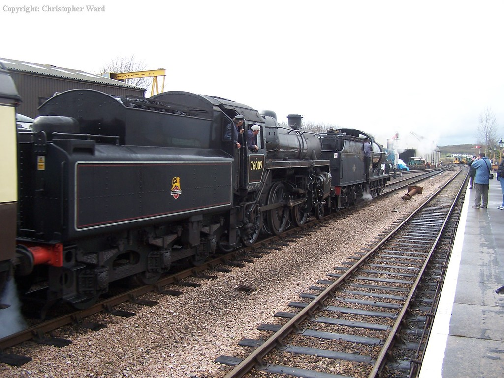 The 4F and 4MT at Williton