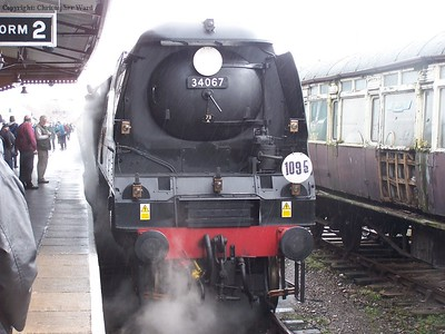 Tangmere at a damp Minehead