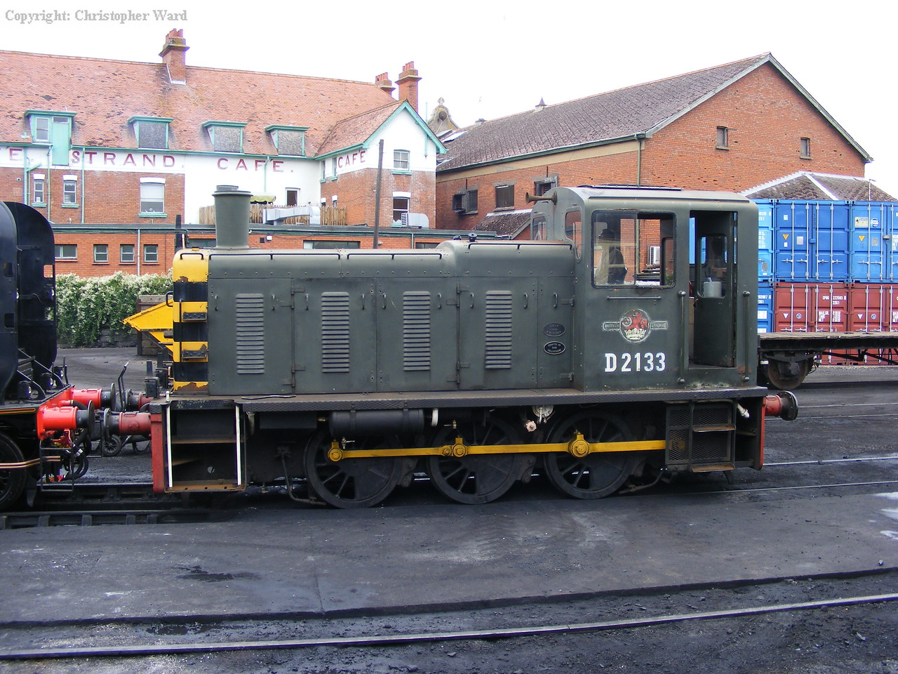 The class 03 engaged in shunting at the resort town