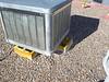 Swamp Cooler set on foamed in Cinder blocks.  See Next Photo.