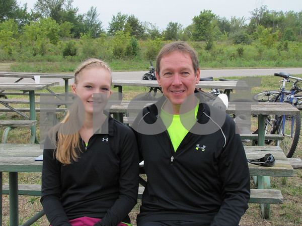 Elsa and Troy Martens before their leg of the Adventure Race held at Brushy Creek.