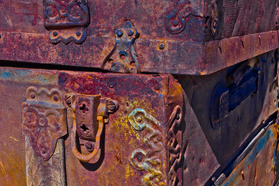 A Forgoten Trunk of Times Gone By - With a Little Color Added