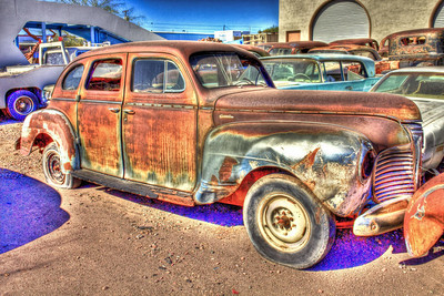 Old Car-2 Source Shot, processed with HDR plus color saturation