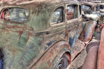 Junk car waiting for a new owner, processed with HDR