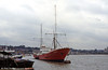 <DIV ALIGN=left>The Radio Caroline ship MV Ross Revenge moored at Chatham in 1996. Originally an Icelandic trawler, the ship passed to Ross Trawlers Ltd., Grimsby, in 1963. It was sold to a breaker's yard at Teeside in 1977. It then passed to Coastal Marine Services, Plymouth, as a salvage vessel (1977) and to the Caroline Organisation in 1981 as a replacement for the stalwart Mi Amigo which had foundered the previous year. Overall length is 72.64 metres.</DIV>